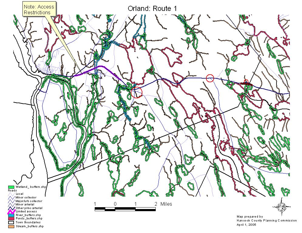 Orland Maine Map.Orland Land Use